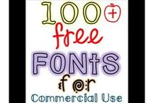 Free Fonts for Personal and Commercial Use / This board contains a collection of free fonts that give commercial use rights. Most of the font creators only ask that you give credit in the form of a link back to their website or TpT store on the credits page of your products. *Please read each creators terms of use in order to ensure that proper credit is given! Follow this board to keep up on the latest free fonts for commercial use!