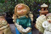 Anjos / Anjos no jardim