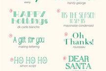 Fa la la Fonts! / #Christmas, #Holiday, and #Winter Inspired #FONTS / by Austin Trail of Lights