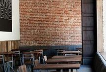 Inspiring Walls / brick and wooden walls in the interior as a decorative element
