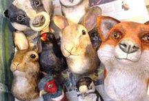 Paper mache animals / Paper mache animals