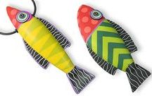 ~THE SEA: Boats and fishes~ / Handmade fishes and sailing boats