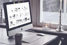 Home: Work space / home decor office desk design furniture inspiration