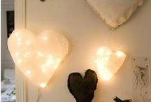 Paper mache hearts / Beautiful hearts made of paper mache