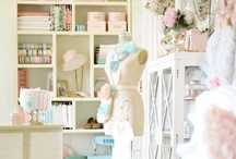 Sewing Craft Room Inspiration / Inspiring ideas for a more organized sewing and crafting workspace!   / by Cinnamon Miles / Liberty Jane Clothing