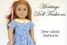 Designed by Heritage Doll Fashions / Heritage Doll Fashions doll clothes patterns are available at Liberty Jane Patterns. Below is a collection of patterns she has designed, as well as, clothing made by talented seamstresses using her fabulous patterns! Please comment and repin to show your support of Indie Designer Heritage Doll Fashions :) / by Cinnamon Miles / Liberty Jane Clothing
