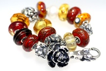 """A collection of Glass Trollbeads / At Trollbeads Gallery we have our favorite """"in line"""" glass beads which are glass beads that are offered in multiples. Unlike the Unique beads or the """"one of a kind"""" beads these beads, when current, are always available."""