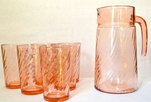 Vintage Glass - Lots of Pink Glass / A collection of beautiful glass mostly vintage Glass. / by Tea Cottage Pretties - Beverly