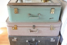 Vintage suitcases, luggage, trunks and hatboxes. / Here you will find a collection of suitcases, luggage, trunks and hatboxes.  You will also find ideas about how to use vintage suitcases. / by Tea Cottage Pretties - Beverly