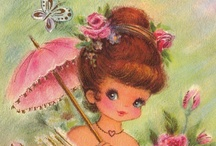 Vintage Girly Girls / A collection of really cute and sweet girly Girl images.  / by Tea Cottage Pretties - Beverly