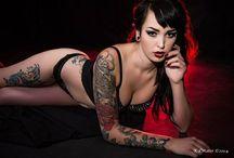 Halie Gear  Model / Alt model. Alternative model. Halie Gear. Photography. Tattoos. Tattooed model.   / by Halie Gear