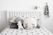 Monochrome Nurseries and Children's Rooms / Our pick of nurseries and children's rooms that utilize a black & white theme - with a bit of colour ;)