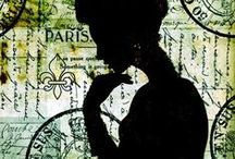 """""""OUI OUI PAREE """" / A collection  of printables and collage image of Paris for you to enjoy. / by Roslind Sherman"""