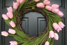 """"""" WREATHS """" and  Decor / Wreath and home decor ... for WELCOMING / by Roslind Sherman"""