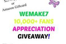 WEMAKE7 Giveaways and Sweepstakes