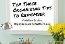 Organizing Tips from OYLAM / Organizing Tips from OrganizeYourLifeAndMore.com