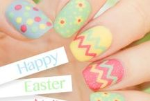 Easter Nails, Makeup and Hair