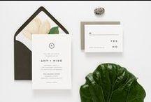 Letterpress Wedding Invitations / Custom letterpress wedding invitations printed by Birdwalk Press.