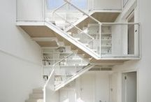 Bright and unique staircases / Inspiration for staircases that are playing with natural light!
