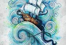 sea,waves and curls / by ulya tanrıverdi