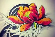 Lottus Flowers Tattoo / Tatuajes de flor de loto