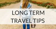 Long Term Travel Tips / The truth about long-term travel and when travel turns into a way of life. Is it ok to have a lifestyle rather than a career? Do you have to follow the conventional 9 - 5 route? How can you combine your love for travel and earn a living?