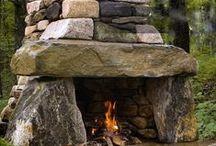 Design Inspiration:  Fire Features / Firepits, fireplaces, firebowls