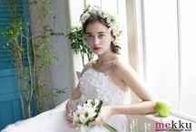 Flower Crown【mekku】 / 花冠&ヘッドドレス ウェディングアクセサリーSHOP【mekku】 http://www.mekku.info/ の花冠、花カチューシャ、花飾りを紹介(^o^)