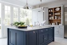 Blue Painted Kitchen