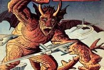 "Where Monsters Dwell / Cover Art for ""American Kaiju"" Comics"
