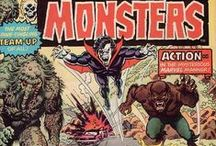 Horror Comics (1970s) / Cover Art for Horror Comics from the Bronze Age & 1970s