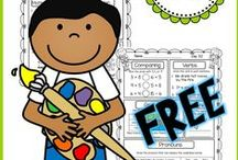 Free Educational Resources for Teachers / Free math and language arts worksheets, ideas, and centers for teachers