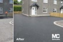 Driveway Surfacing / A selection of completed resurfaced domestic driveways using bitmac and asphalt.