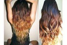 •hair• / Braid Styles Hair colors Curls and buns etc ...