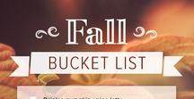 Fall Bucket Lists