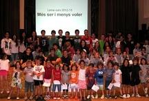 + SER, - VOLER / El dimecres 6 de juny els delegats i delegades de la nostra escola, des de P3 fins a batxillerat, es van reunir amb els/les responsables de l'Acció Tutorial i Pastoral de les respectives etapes per a escollir el lema del pròxim curs 2012-2013.
