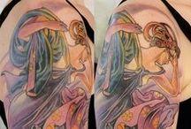 jugendstil tattoo..art nouveau..neo traditional and more / tattoos  art nouveau jugendstil luis orellana