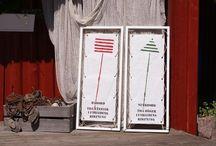 Marina Tavlor / Marina Tavlor är en kombination av kunskap och design bla med signalflaggor. Www.marinatavlor.se