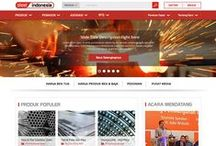 SteelI Indonesia / This is a Portal & E-Commerce site of Steel & Metal Industries, which are redesigned from the old version