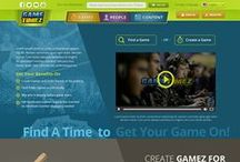 GameTimez / This is a landing page of GameTimez Startup, Including mobile version
