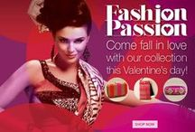"Fashions Passion- Valentine Special / ""This Valentine choose from colours like Passionate Red, Pretty Pink, Fruity Orange... More available @ SakhiFashions.com"