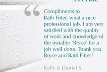 Bath Fitter Customer Quotes  / Some of our favorite comments from our customers!