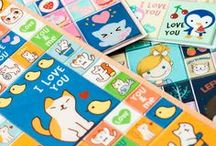 Cute Stationery / Kawaii stickers, notebooks, pencils and other adorable stationery.