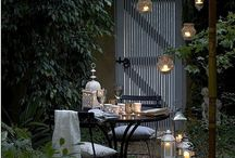 Courtyards, patios, conservatories and hideaways / Private spaces to escape and contemplate