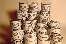 Kreatívan papírgurigákból / Minden amit wc papír és papírtörlő gurigákból lehet készíteni