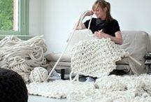 Stricken - Knitting / Die schönsten Ideen zum Stricken: Decken, Schals, Topflappen, Pullover, Kissen, Körbe, Mütze...