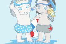 Baby Cap and Buck