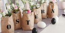 Tischdeko im Frühling / DIY Tischdeko für Ostern und den Frühling: Osterhasen, Pastellfarben, Ostereier, Tulpen und viele schöne Dekoideen
