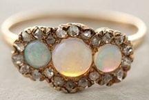 Opal Engagement Rings / Alternative engagement rings.  Mohs 5.5-6.5