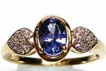 Tanzanite Engagement Rings / Alternative engagement rings for women with discerning tastes.  MOHS 6.5-7
